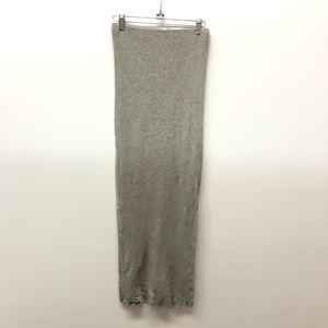 Standard James Perse Cashmere Blend Maxi Skirt Grey